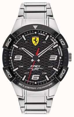Scuderia Ferrari | apice maschile | bracciale in acciaio inossidabile | quadrante nero | 0830641