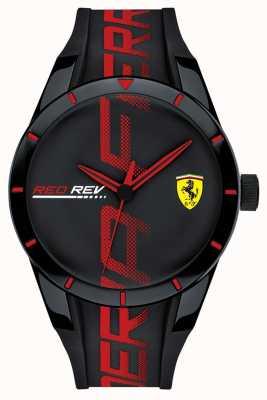 Scuderia Ferrari | redrev da uomo | cinturino in silicone nero / rosso quadrante nero | 0830614