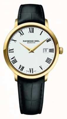 Raymond Weil | mens toccata | quadrante bianco classico cassa in oro pvd | 5485-PC-00300