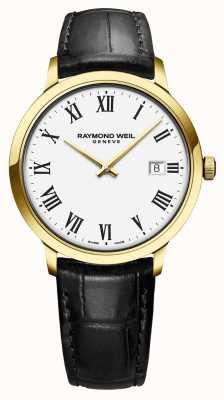 Raymond Weil | toccata da uomo | quadrante bianco cassa classica pvd oro | 5485-PC-00300