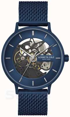 Kenneth Cole | mens automatico | cinturino in rete blu | quadrante blu | KC50780003