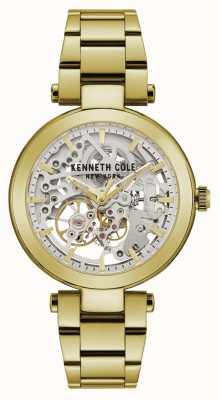 Kenneth Cole | donna automatica | braccialetto giallo / oro | quadrante argento | KC50799003