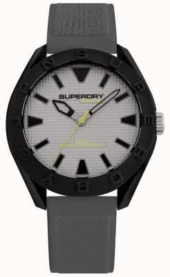 Superdry | uomo osaka | cinturino in silicone grigio | quadrante grigio | SYG2432EE