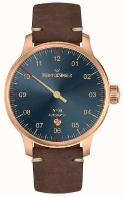 MeisterSinger Linea bronzo n. 03 in pelle di vitello marrone scuro AM917BR