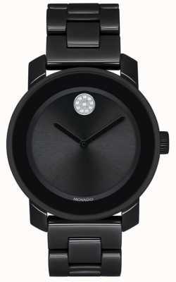 Movado | grassetto | braccialetto placcato in pvd nero | quadrante nero | 3600535