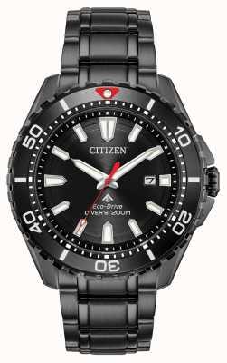 Citizen Promaster diver da uomo eco-drive nero pvd placcato BN0195-54E