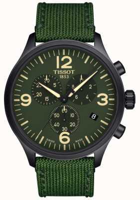 Tissot | mens chrono xl | cinturino in tessuto verde | quadrante verde | T1166173709700
