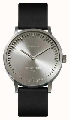 Leff Amsterdam | orologio da tubo | t32 | acciaio | cinturino in pelle nera | LT74111