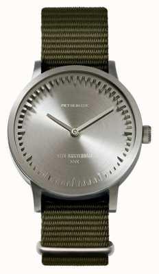 Leff Amsterdam | orologio da tubo | t32 | acciaio | cinturino nato verde | LT74131