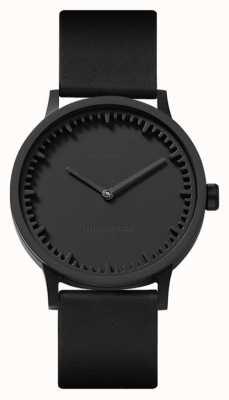 Leff Amsterdam | orologio a tubo | t32 | nero | cinturino in pelle nera | LT74212