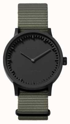 Leff Amsterdam | orologio da tubo | t32 | nero | cinturino nato grigio | LT74252
