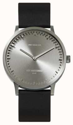 Leff Amsterdam | orologio da tubo | t40 | acciaio | cinturino in pelle nera | LT75111