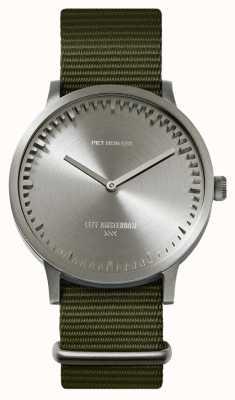 Leff Amsterdam | orologio da tubo | t40 | acciaio | cinturino nato verde | LT75131
