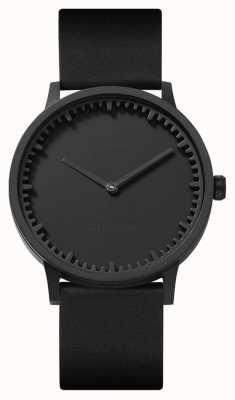 Leff Amsterdam | orologio da tubo | t40 | nero | cinturino in pelle nera | LT75212