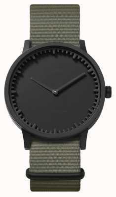 Leff Amsterdam | orologio da tubo | t40 | nero | cinturino nato grigio | LT75252