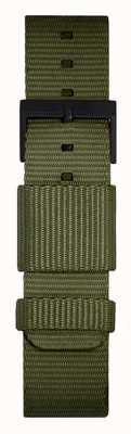 Leff Amsterdam | cinturino verde nato | fibbia nera | LT74032-STRAP