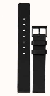 Leff Amsterdam | cinturino in pelle nera | fibbia nera | LT74012-STRAP
