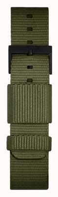 Leff Amsterdam | cinturino verde nato | fibbia nera | LT75032-STRAP