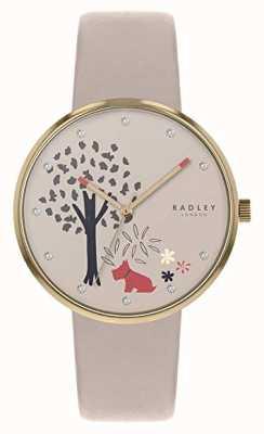Radley | cinturino in pelle da donna | quadrante motivo albero e cane | RY2786