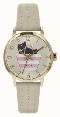 Radley | cinturino in pelle grigia da donna | quadrante a forma di cane stampato | RY2790
