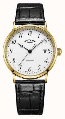 Rotary Orologio buckingham da uomo in oro 9 ct GS11476/18