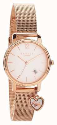 Radley | braccialetto in maglia oro rosa da donna | quadrante in oro rosa | RY4390