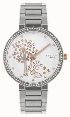 Radley | bracciale in acciaio inossidabile da donna | quadrante a motivo albero | RY4387