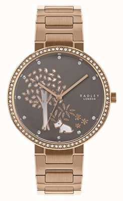 Radley | bracciale donna in acciaio oro rosa | quadrante bianco / grigio | RY4386