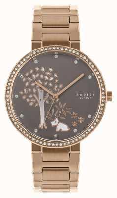 Radley | bracciale da donna in oro rosa | quadrante albero bianco / grigio | RY4386