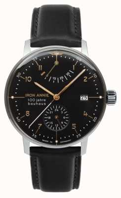 Iron Annie Bauhaus | automatico | riserva di carica | nero | 5066-2