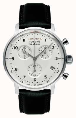 Iron Annie Bauhaus | crono | quadrante bianco | pelle nera 5096-1