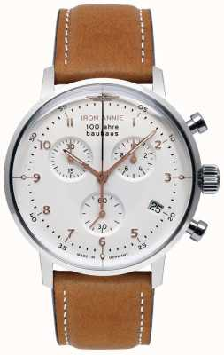 Iron Annie Bauhaus | crono | quadrante bianco | pelle marrone 5096-4