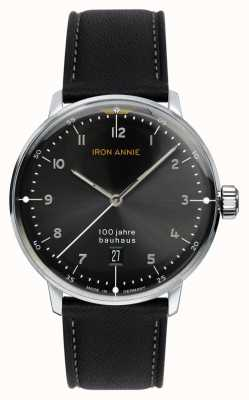 Iron Annie Bauhaus | quadrante nero | cinturino in pelle nera 5046-2
