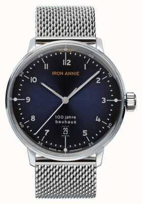 Iron Annie Bauhaus | quadrante blu | maglia in acciaio inossidabile 5046M-3