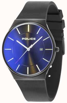 Police Cinturino in silicone nero nuovo orologio da uomo 15045JBCB/02PA