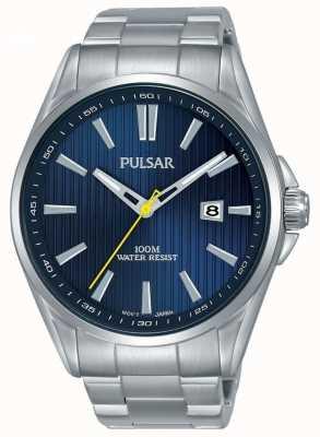 Pulsar | bracciale da uomo in acciaio | quadrante blu | PS9603X1