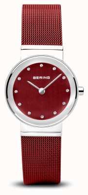 Bering Donne | classico | bracciale in maglia di acciaio pvd rosso 10126-303