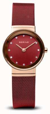 Bering Donne | classico | bracciale in maglia di acciaio pvd rosso 10126-363