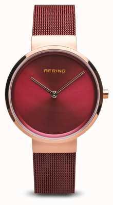 Bering Donne | classico | bracciale a maglie d'acciaio placcato pvd rosso 14531-363