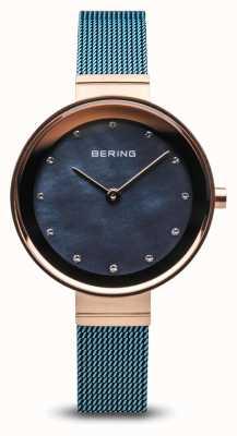 Bering Donne | classico | maglia d'acciaio placcata pvd blu 10128-368