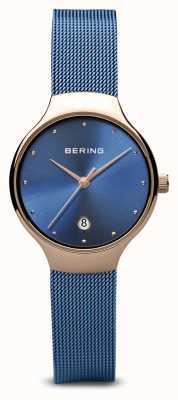 Bering Donna | classico | cinturino in maglie blu placcato pvd blu 13326-368