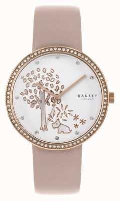 Radley | pelle nuda da donna | quadrante bianco | set di cristalli incastonati RY2836