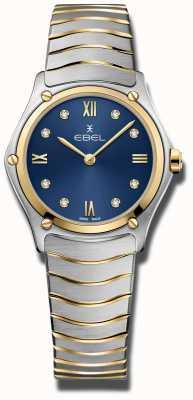 EBEL Classico sportivo da donna | quadrante blu | bracciale in acciaio inossidabile 1216446A
