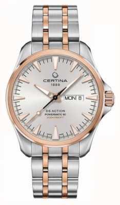 Certina | ds action day-date powermatic 80 | acciaio inossidabile | C0324302203100
