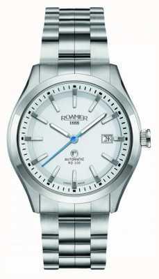 Roamer | automatico rd100 | bracciale in acciaio inossidabile quadrante bianco | 951660 41 25 90