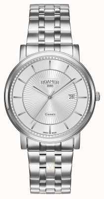 Roamer | linea classica | bracciale in acciaio inossidabile quadrante argentato | 709856-41-17-70