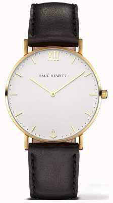 Paul Hewitt | orologio unisex della linea marinaio | cinturino in pelle nera | 6450854