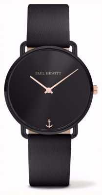 Paul Hewitt | le signore perdono l'oceano | cinturino in pelle nera | PH-M-B-BS-32S