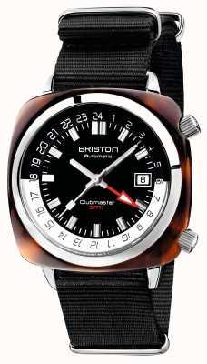 Briston Cinturino auto nato nero in edizione limitata Clubmaster gmt 19842.SA.T.1.NB
