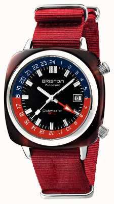 Briston Clubmaster gmt limited edition | automatico | cinturino rosso nato 19842.SA.T.P.NR